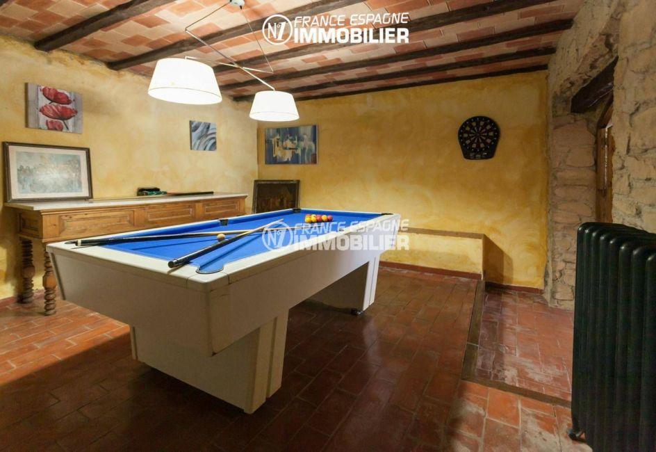 achat villa costa brava, ref.3306, salle de jeux: billards, fléchettes
