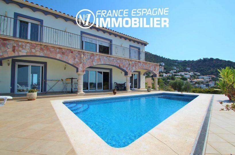 maison a vendre espagne, ref.2435, vue mer avec appartement indépendant, piscine et cave