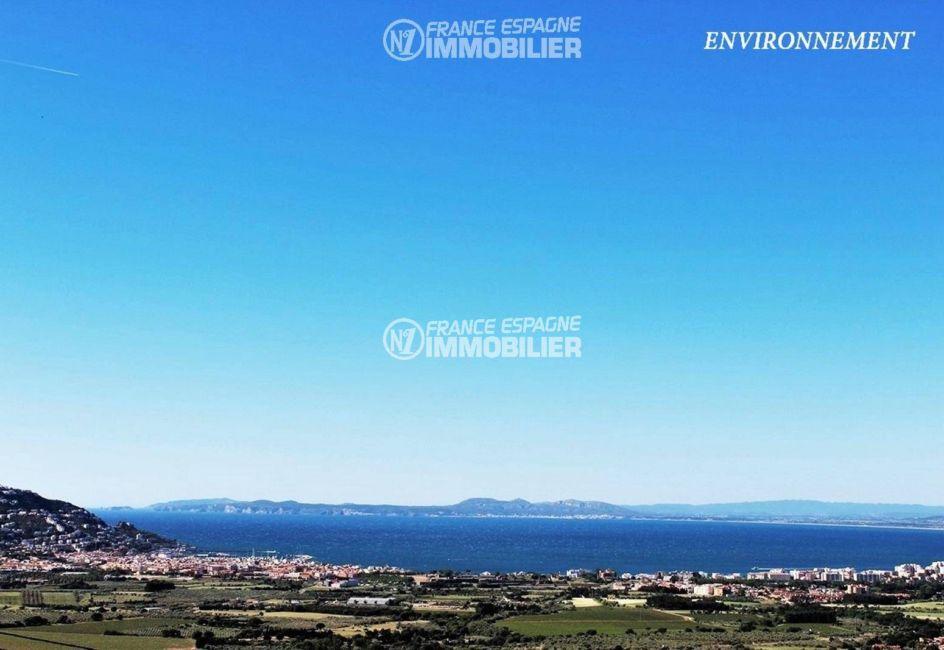 maison a vendre espagne rosas, ref.3326, vue mer depuis mas fumats
