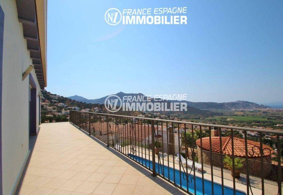 agence immobiliere costa brava: villa ref.2435, terrasse vue mer qui dessert le salon