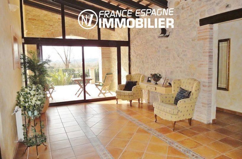 acheter costa brava: villa ref.936, hall d'entrée qui dessert la terrasse
