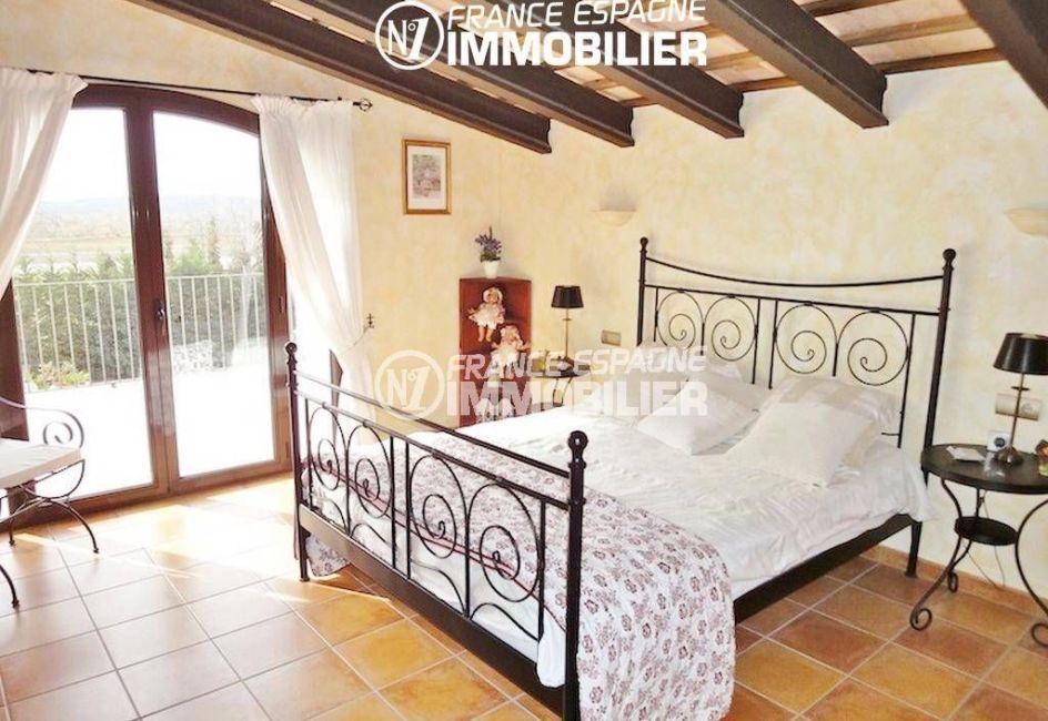 achat maison espagne costa brava, ref.936, deuxième chambre lit double accès terrasse