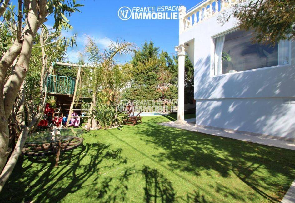 maison a vendre roses, 202 m² avec piscine, jardin 400 m², vue mer