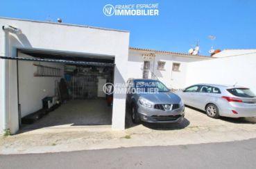 immo costa brava: appartement 80 m², possibilité garage de 18 m² avec rangements