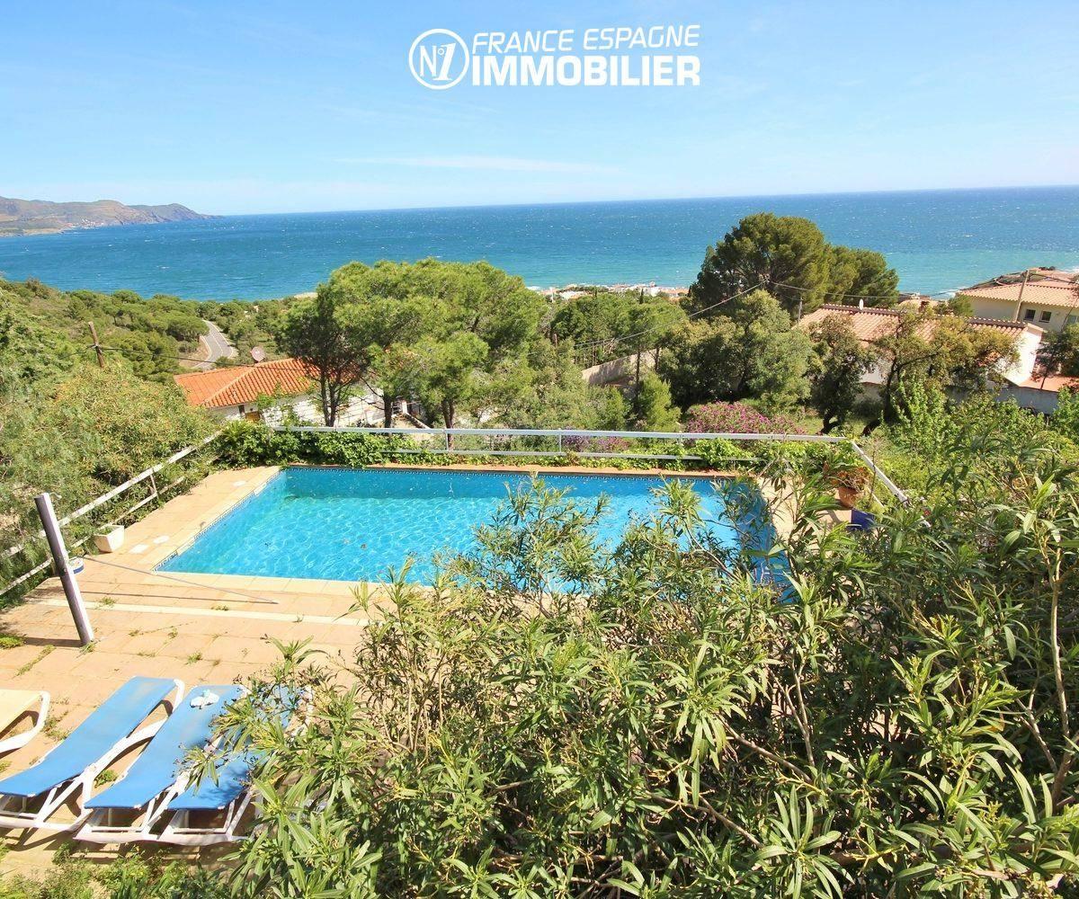agence immobiliere llanca espagne vend villa 152 m², piscine sur terrain 1763 m², vue mer