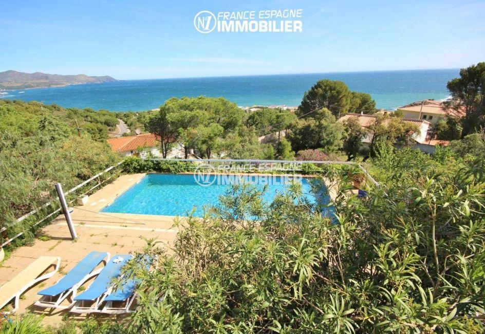 agence immobiliere llanca espagne vend villa 152 m², ref.3399, piscine avec vue mer