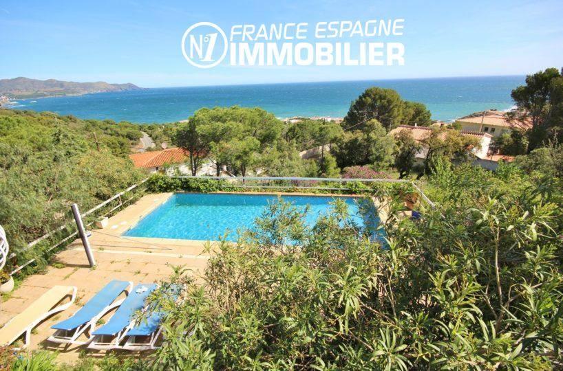 immobilier llanca: vente villa vue mer proche plage Port de la Selva