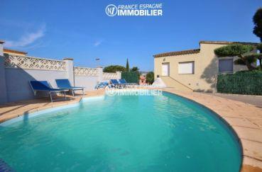 maison a vendre rosas, ref.3402, aperçu de la piscine sur terrain de 583 m²