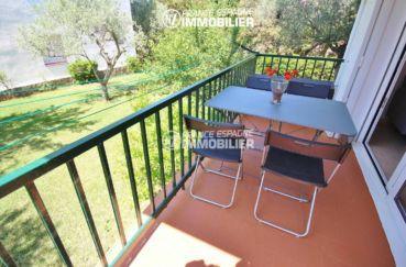 appartement costa brava, ref.3425, terrase avec vue sur le jardin