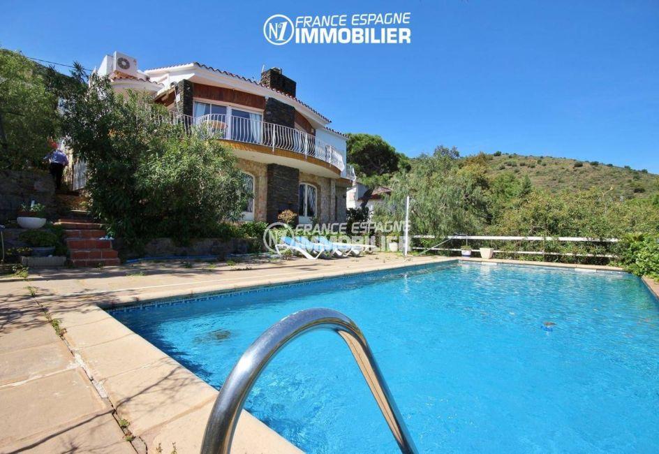 agence immobiliere llanca: vente villa 152 m², ref.3399,  piscine sur terrain de 1763 m²
