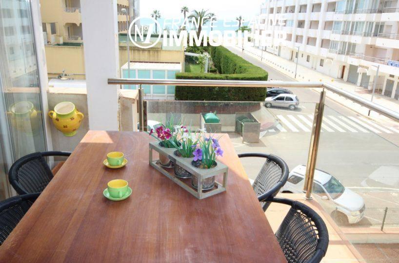 Vend appartement Roses Espagne - vue de la terrasse