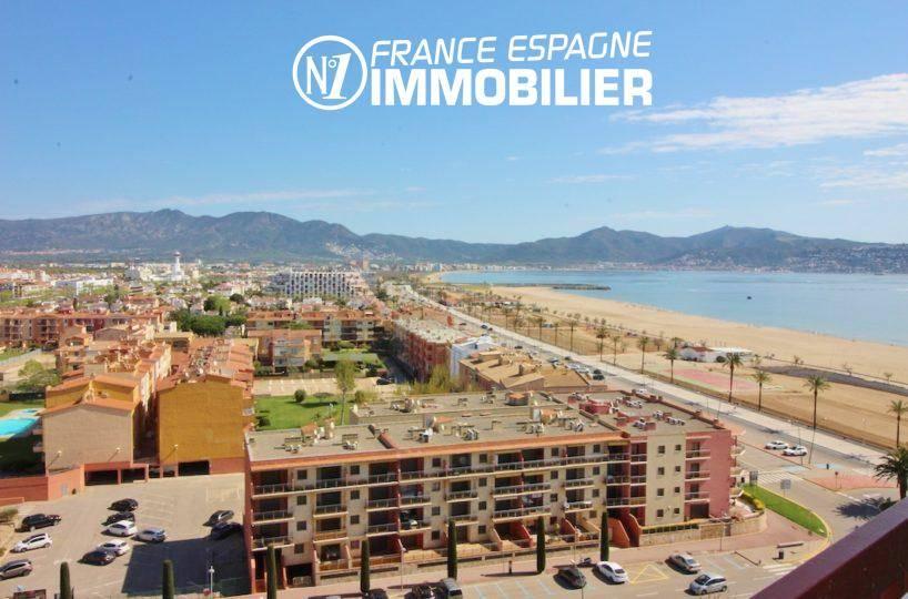 EMPURIABRAVA- Petit prix : appartement vue mer proche plage - vue de la terrasse