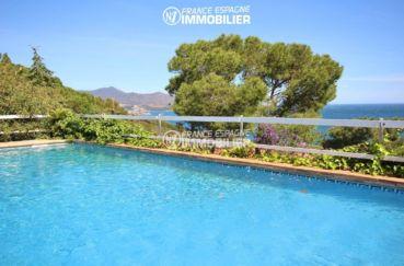 maison costa brava, ref.3399, magnifique paysage depuis la piscine