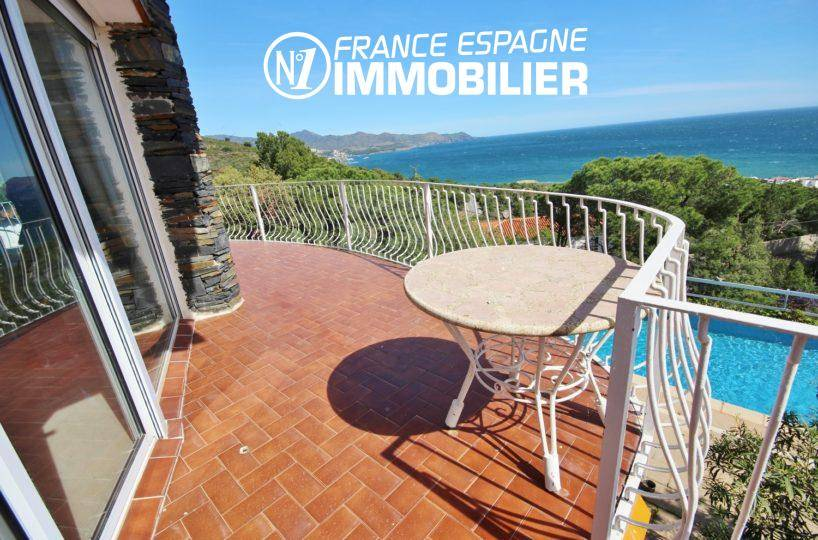 agence immobilière llanca: vente villa 152 m², piscine, vue mer proche plage