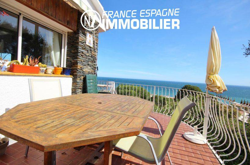immobilier llanca: vente villa 152 m², piscine sur terrain 1763 m², vue mer proche plage