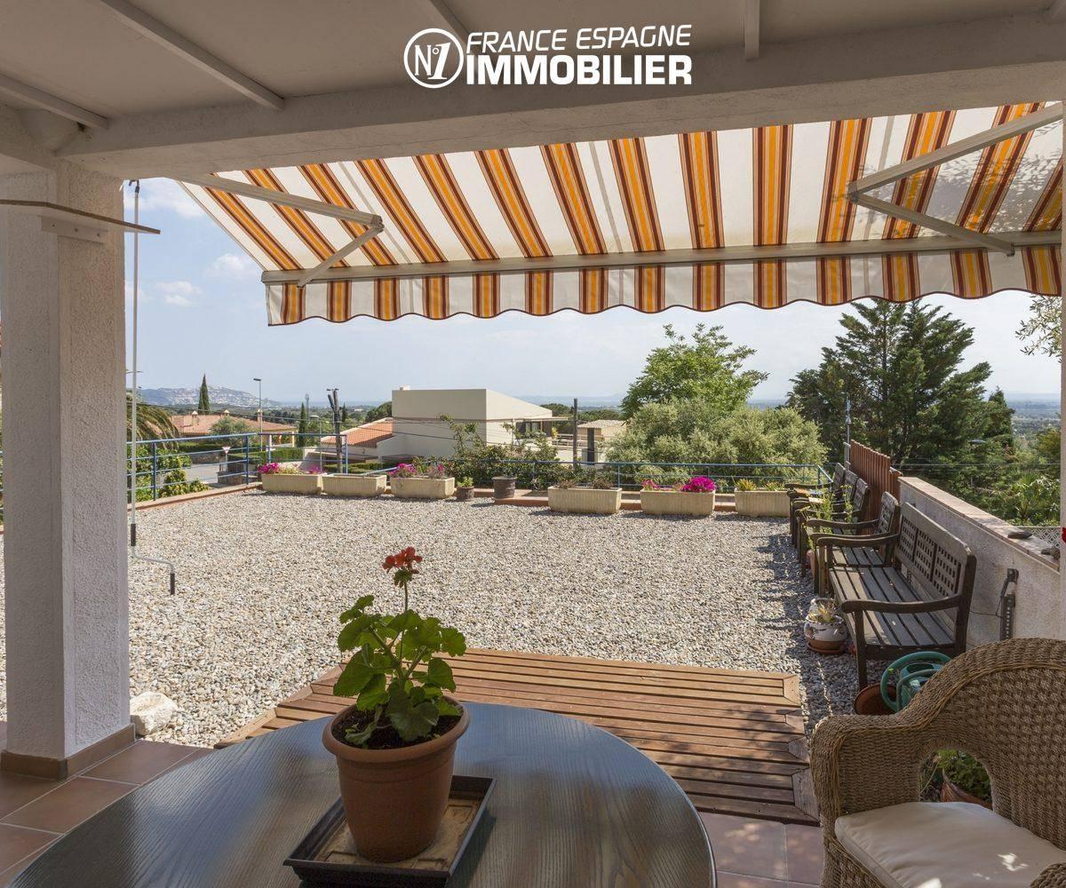 maison a vendre espagne costa brava, vue dégagée depuis la terrasse   ref.3411