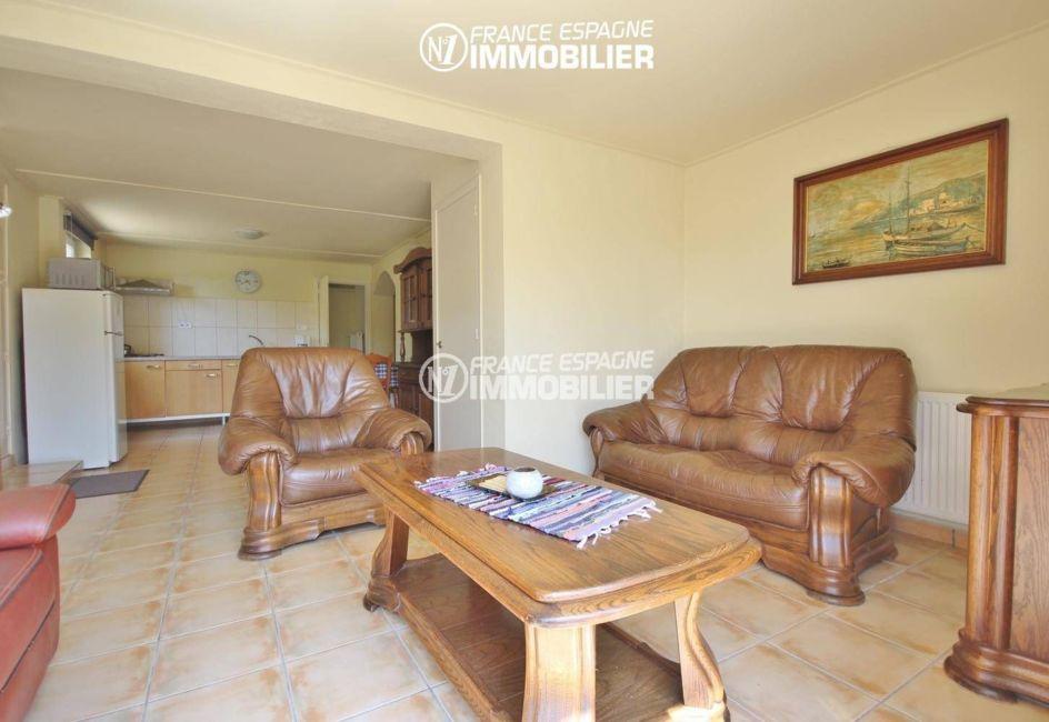 vente immobiliere rosas espagne: villa ref.3402, second appartement à l'étage : salon / séjour et coin cuisine