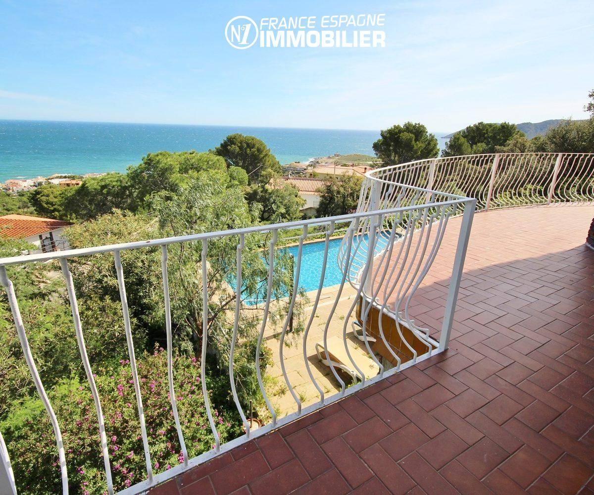 vente maison llanca, 152 m², piscine sur terrain 1763 m², vue mer proche plage