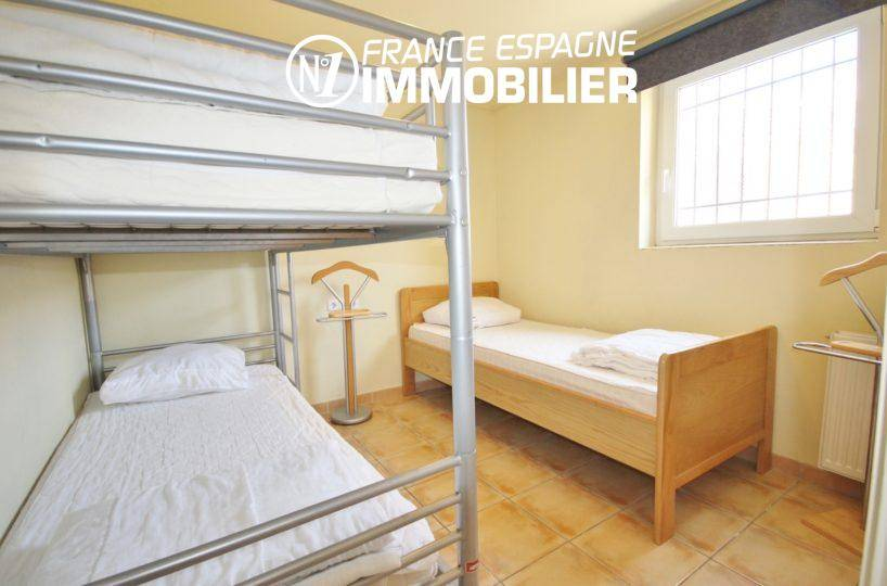 vente maison rosas espagne, ref.3402, troisième chambre avec lits superposés + lit simple