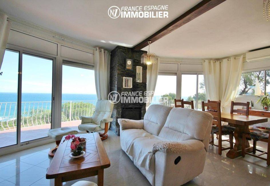 maison a vendre espagne bord de mer, ref.3399, salon / salle à manger accès terrasse
