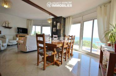 costa brava immobilier: villa ref.3399, salon / salle à manger avec accès terrasse