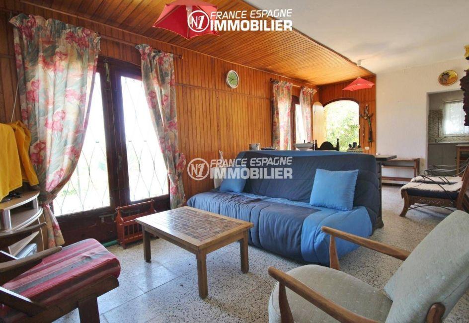 maison à vendre en espagne costa brava, ref.3399, appartement indépendant: salon