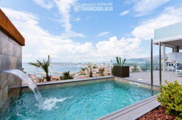 agence immo rosas: villa neuve, ref.3433, proche commerces & plage - aperçu piscine
