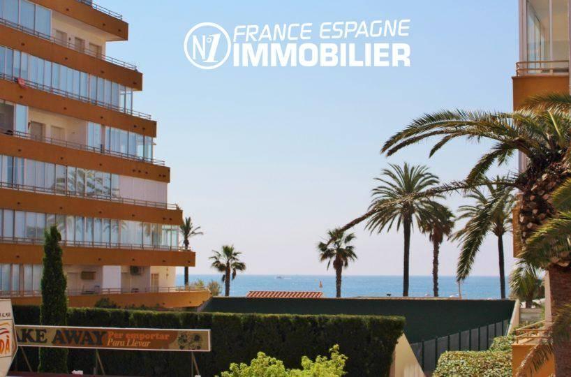 immobilier espagne bord de mer: appartement 83 m², vue mer proche plage Rosas