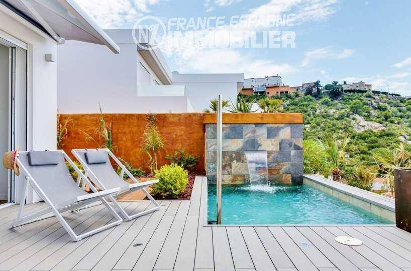 maison a vendre espagne, ref.3433, aperçu de la terrasse & piscine