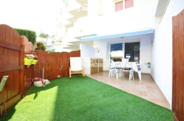 santa margarita rosas: appartement 44 m² avec piscine & jardin parking, amarre possible