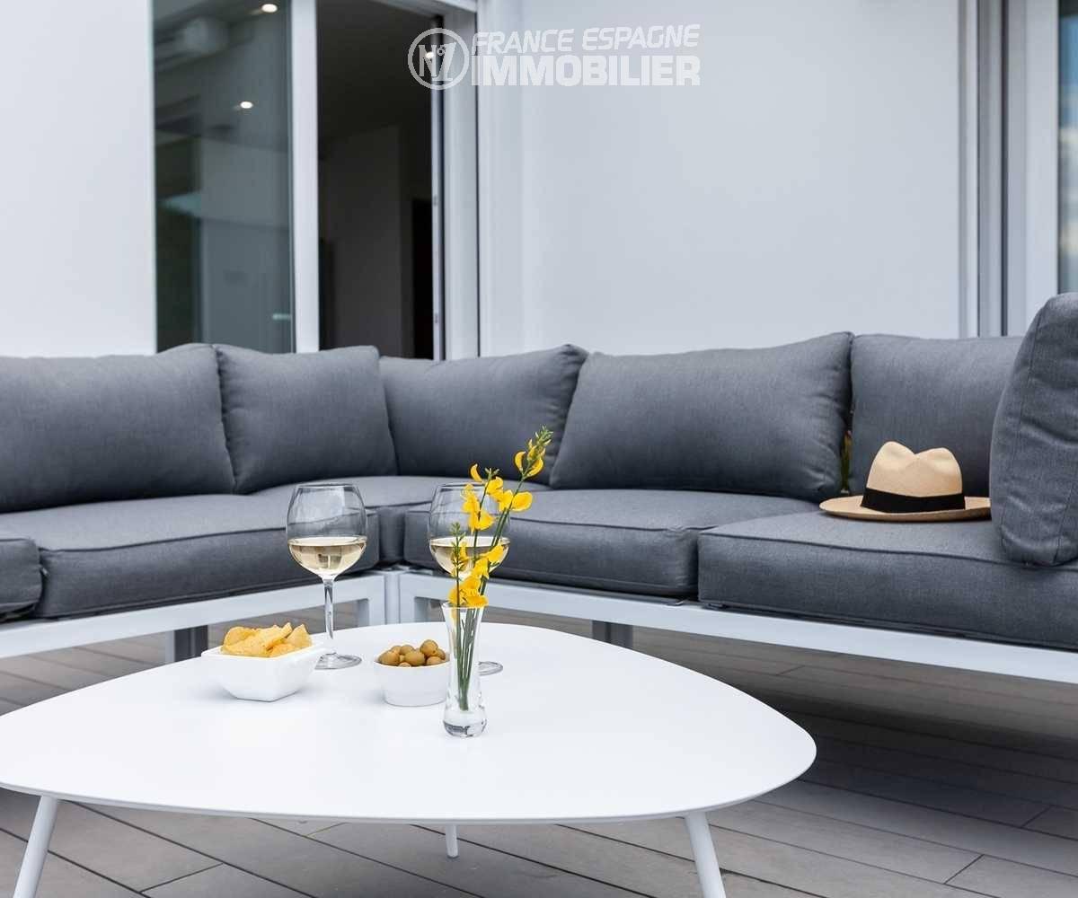 agence immobilière roses: villa ref.3433, salon d'été sur la terrasse