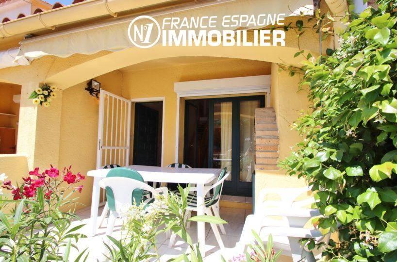 maison a vendre empuria brava, ref.3446, aperçu terrasse avant & salle à manger d'été