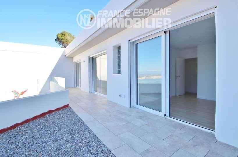 agence immobilière costa brava: villa ref.3433, terrasse des chambres à l'étage