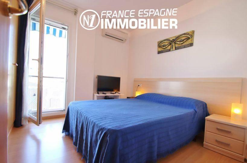 acheter appartement rosas, 55 m², première chambre avec lit double accès terrasse
