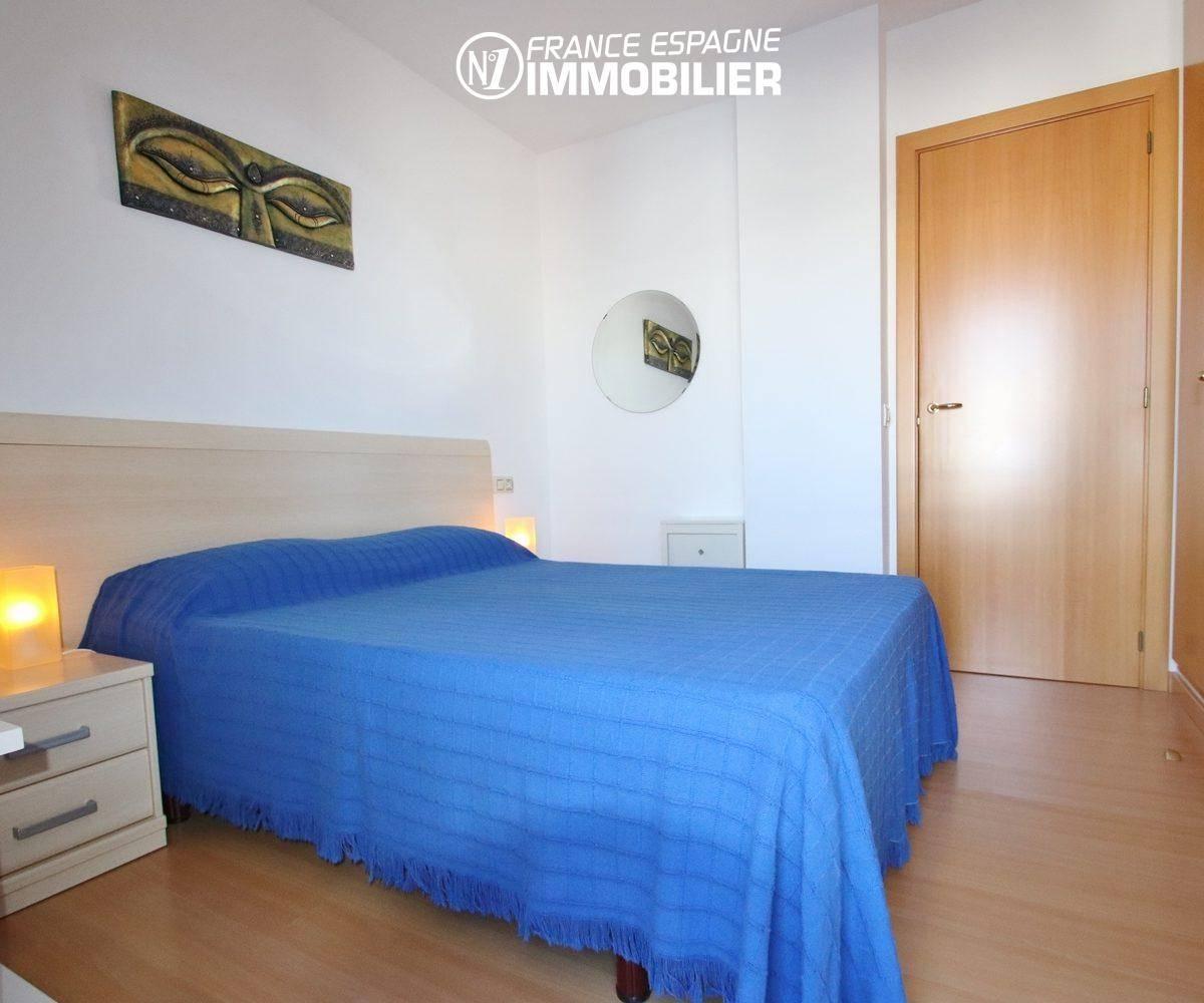 vente appartement rosas espagne, 55 m², première chambre avec des placards