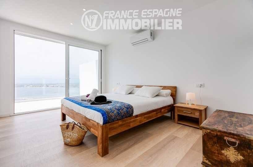 immobilier neuf costa brava espagne: villa ref.3433, première des quatre chambres avec vue mer