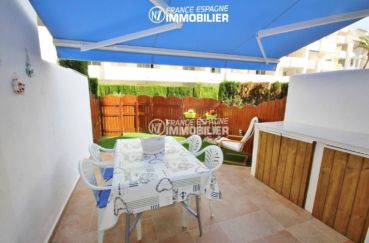 immo costa brava: appartement 44 m² avec piscine & jardin parking, amarre possible