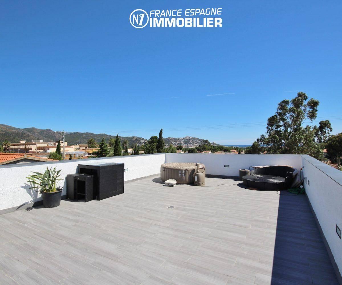maison a vendre espagne costa brava, villa 160 m² à Rosas, jacuzzi solarium, vue mer