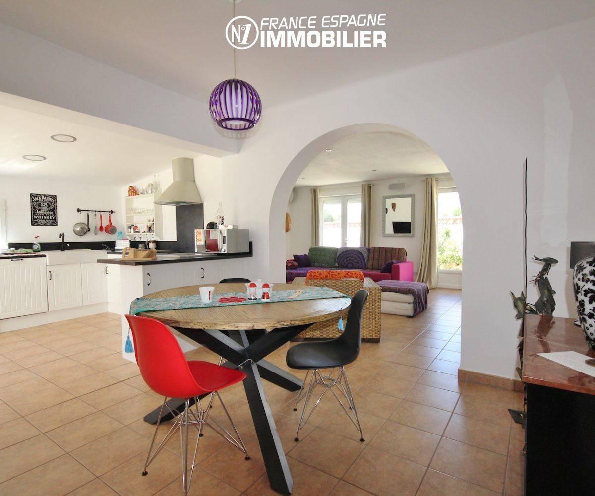 acheter en espagne, villa 160 m² à Rosas, jacuzzi solarium, vue mer