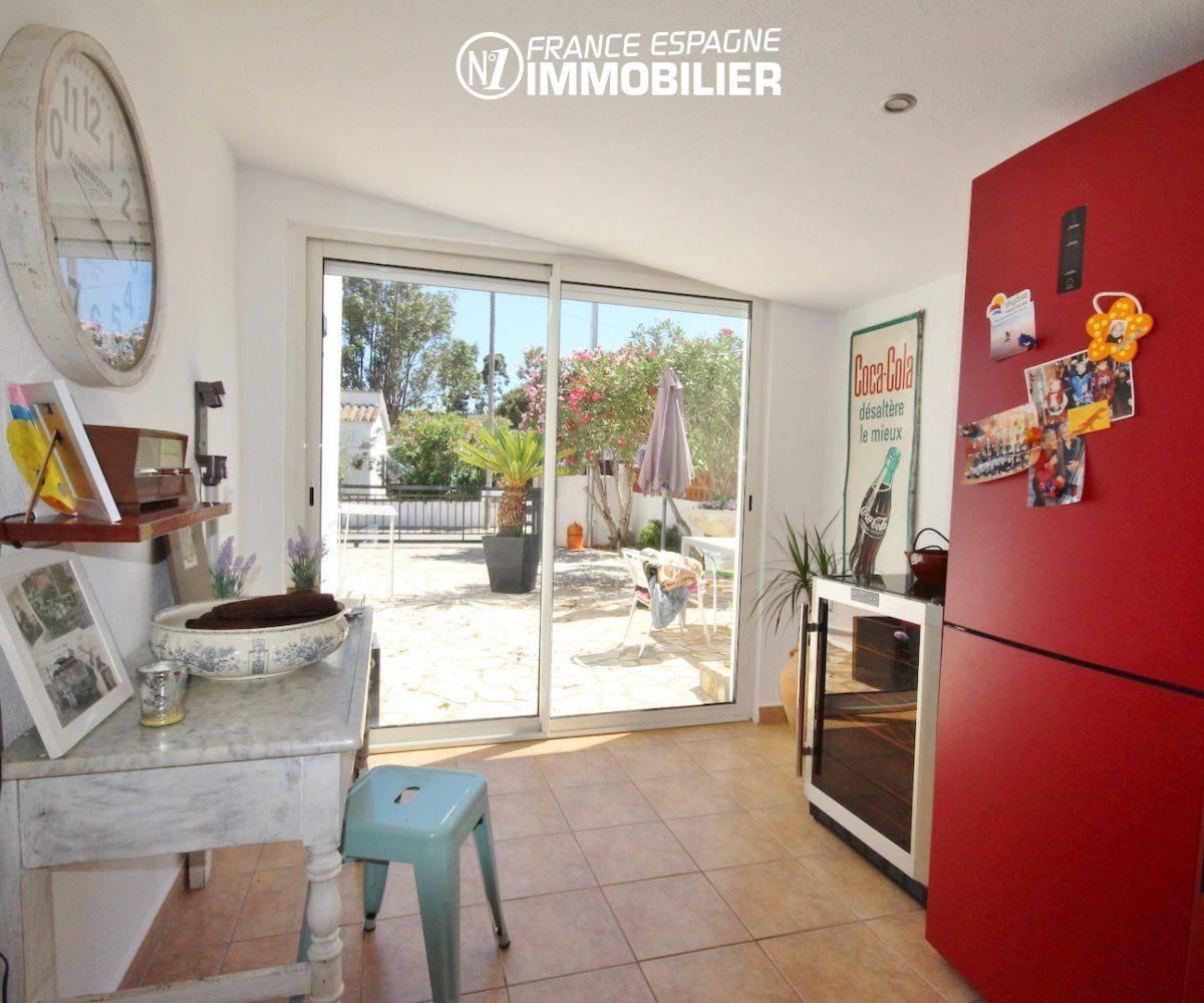 rosas en espagne, villa 160 m² à Rosas, jacuzzi solarium, vue mer