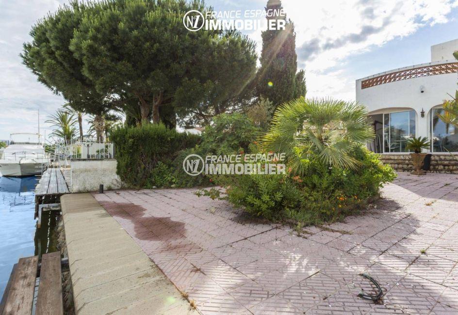 maison a vendre empuriabrava, proche plage, accès direct à l'amarre depuis la terrasse