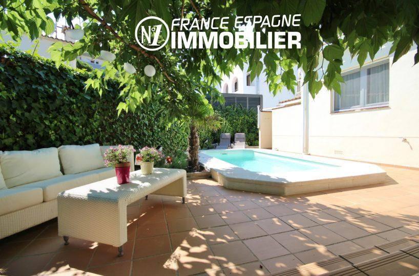 immobilier rosas: villa ref.3466, coin détente et piscine de 4 m x 2,5 m