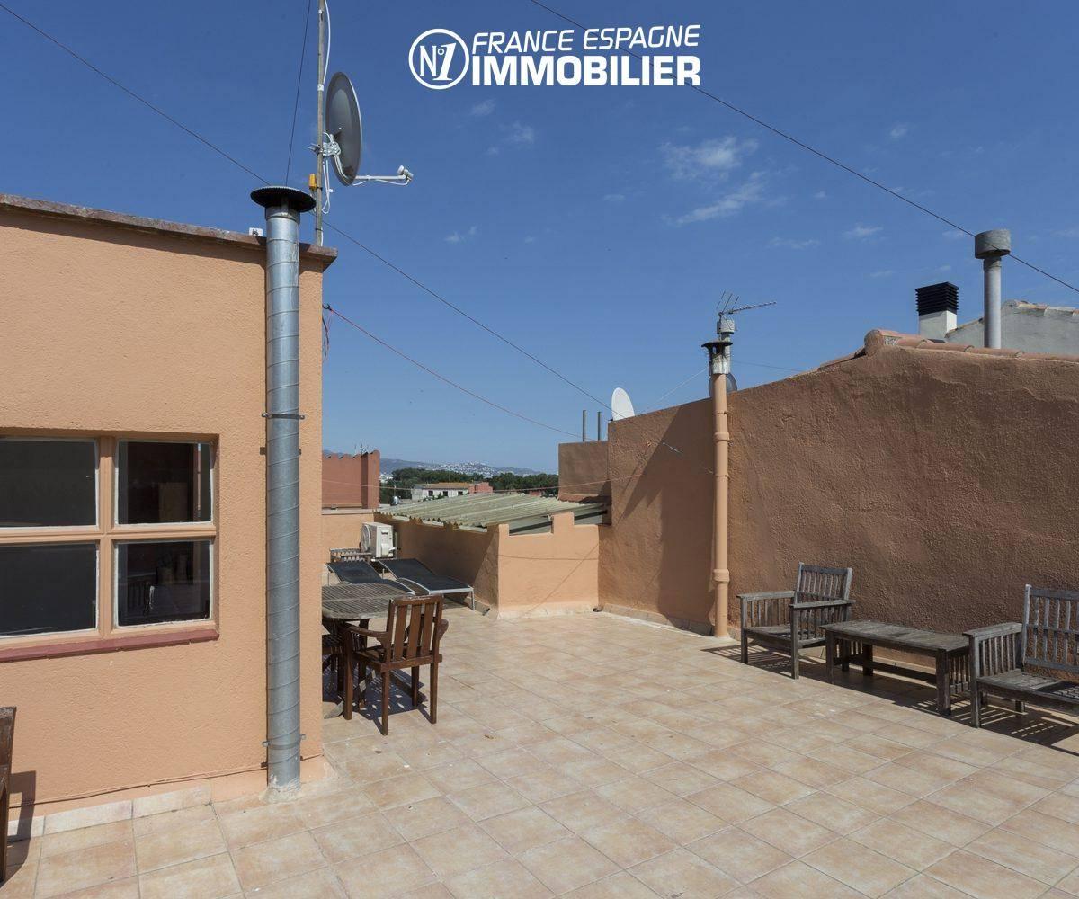 immobilier empuriabrava: villa ref.3477, vue terrasse exposition ouest