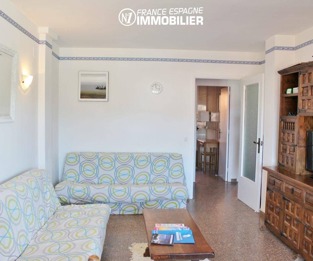 appartement à vendre empuriabrava, aperçu du séjour, ref. 3471