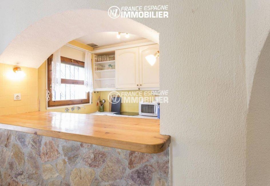 vente villa empuriabrava, 84 m², cuisine américaine ouverte sur le séjour