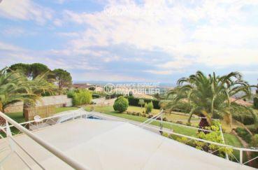 costa brava house: villa ref.3481, terrasse couverte niveau jardin vu du dessus