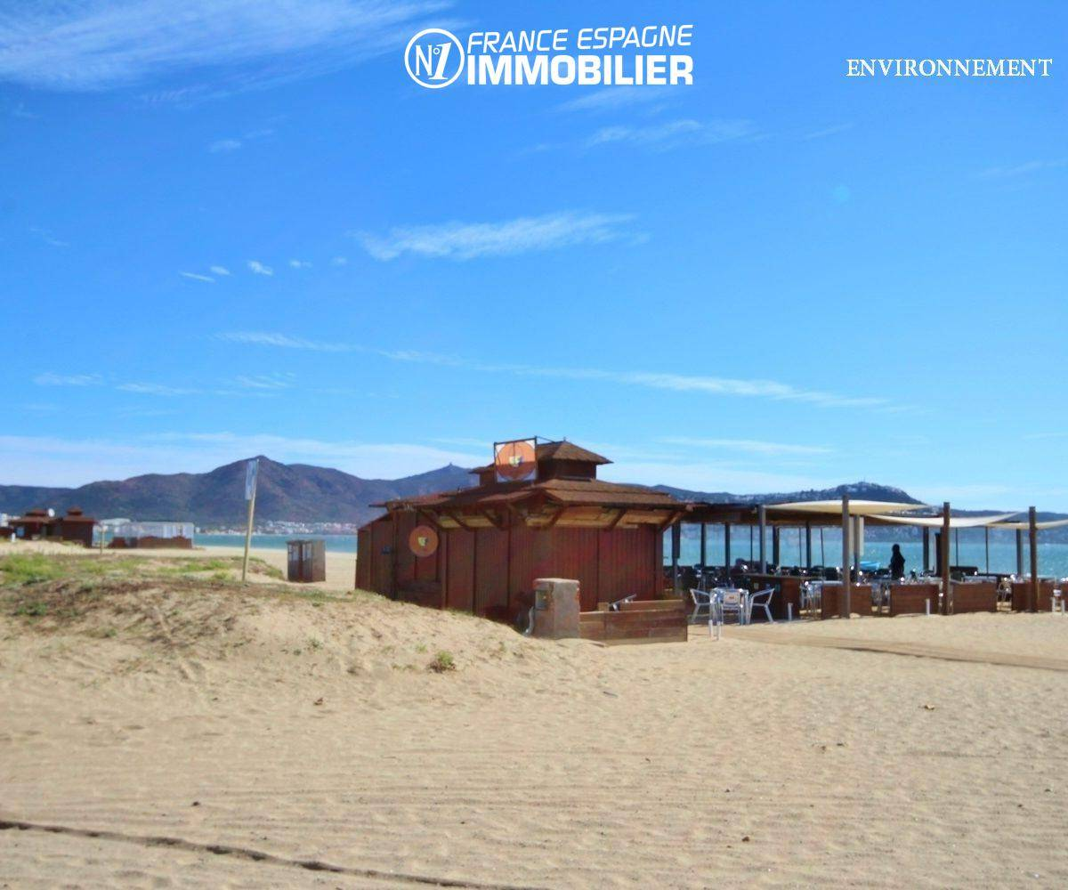vente appartement espagne costa brava,  ref.3470, bar / restaurant sur la plage