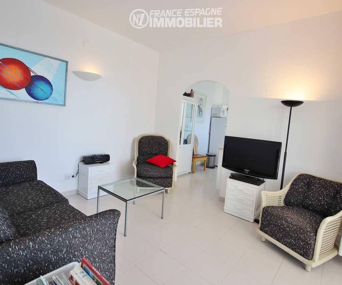 vente de maison costa brava, ref.3481, salon de l' appartement indépendant