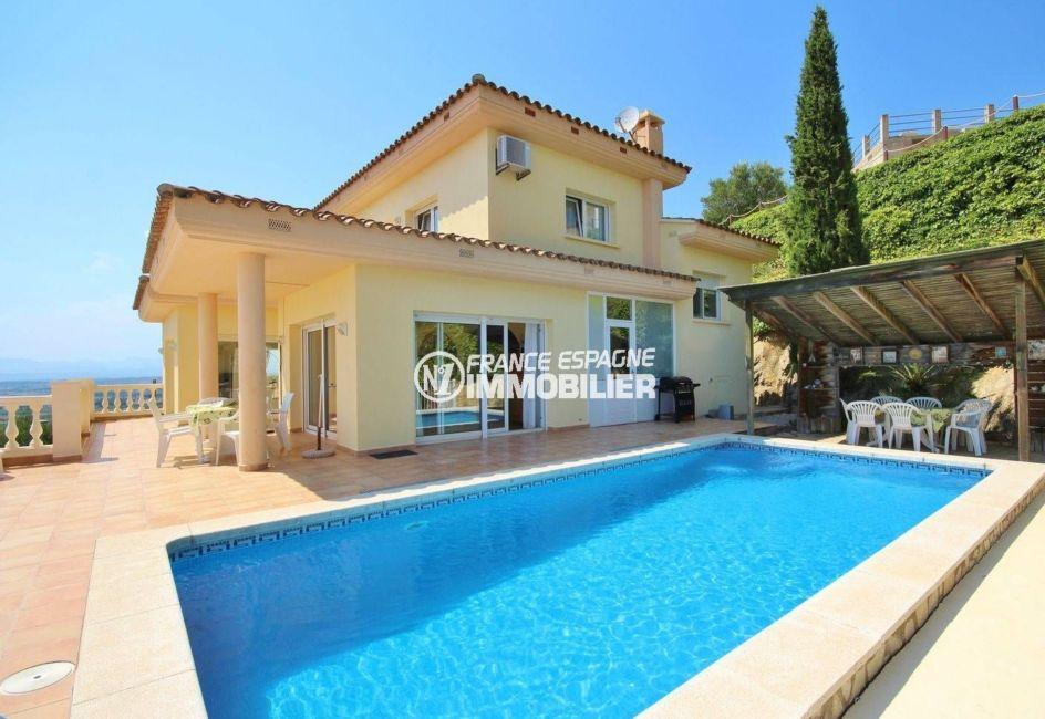 maison a vendre espagne, ref.3501, vue mer et piscine avec appartement indépendant