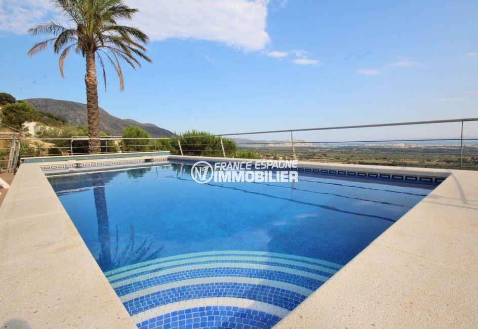 achat immobilier costa brava: villa ref.2364, vue mer et montagnes depuis la piscine